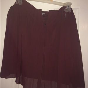 Tops - Burgundy Strapless Night Out Top!